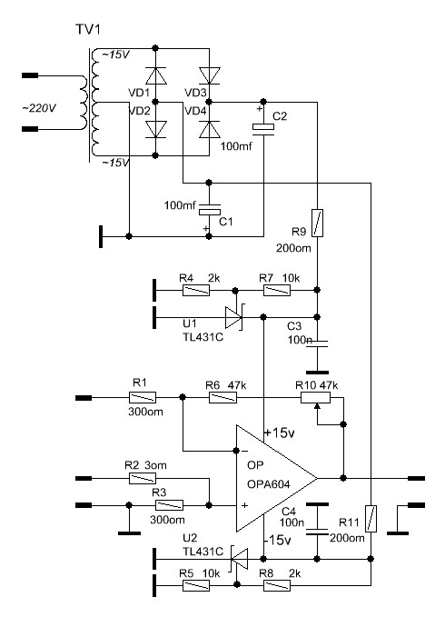 Microphone preamp circuit for your home recording studio